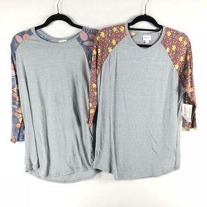 LuLaRoe Randy T-Shirt Women's Large Lot of 2